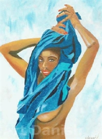 Blue Lady oilpainting